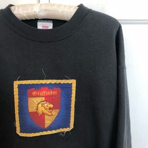 Harry Potter Gryffindor Black Sweatshirt handmade